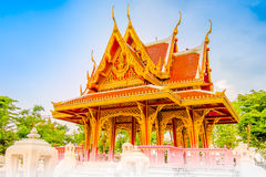Pavilion. Thailand is an architectural pavilion The characteristics of a building facade is relieved by sitting together in a shady shelter. Most air pavilion 4 stock image