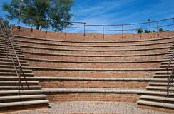 PAVILION TIERS AND STEPS. Small amphitheater with tiers and steps Royalty Free Stock Photos