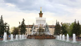 Pavilion of Ukraine, Stone Flower fountain, VDNKh, Moscow, Russia stock video footage