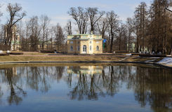 Pavilion Upper bath. City Pushkin. Russia. Stock Photo