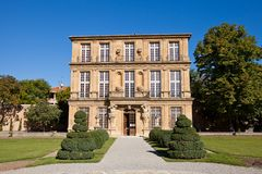 Pavilion Vendome (circa 1667). Aix-en-Provence, France. Pavilion Vendome (circa 1667), place of death of Louis de Bourbon, Duke of Vendome. National Heritage Royalty Free Stock Image