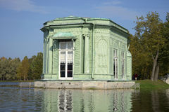 The pavilion of Venus. The view from White lake, Gatchina Royalty Free Stock Image