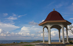 Pavilion with a view of the sea Royalty Free Stock Images