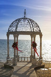 Pavilion with a view of the sea Royalty Free Stock Photo