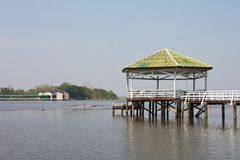 Pavilion on the water. Stock Image