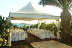Pavilion for wedding on the beach Stock Photo