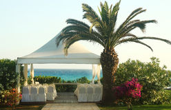 Pavilion for wedding on the beach Royalty Free Stock Photos