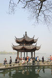 Pavilion at the west lake in hangzhou, china Royalty Free Stock Photography
