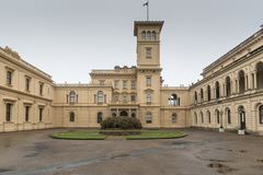 The Pavilion Wing from the south-west Osborne House Isle of Wight. Osborne House is a former royal residence in East Cowes, Isle of Wight, United Kingdom. The Stock Images