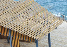 Pavilion wooden roof Stock Images