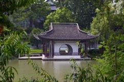 Pavilion. The pavilion in Yangzhou slender west lake Stock Photo