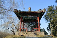 A pavilion in Yuanmingyuan Park Stock Photography