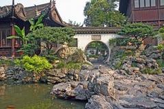 Pavilion in Yuyuan gardens, Shanghai, China Royalty Free Stock Images