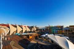 Pavilions at Expo Milano 2015 Stock Images