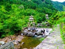 Pavilions-Sword Gates-Ten gate Gorge Royalty Free Stock Photos