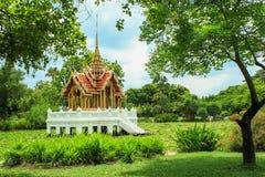 Paviljoen in aard Stock Foto