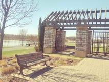 Paviljoen bij park Royalty-vrije Stock Afbeelding