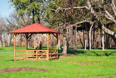 Paviljoen in een park Royalty-vrije Stock Afbeelding