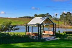Paviljoen in een wijngaard Royalty-vrije Stock Fotografie