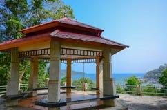 Paviljoen op de heuvel Stock Foto