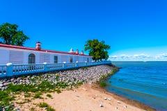 Paviljoen op een kust Royalty-vrije Stock Foto's