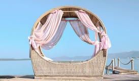 Paviljoen op het strand Stock Afbeeldingen