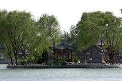 Paviljoen op meer Stock Foto