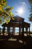 Paviljoen op Rose Island stock foto