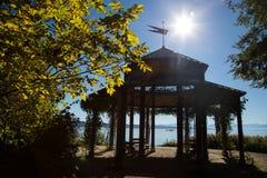 Paviljoen op Rose Island stock foto's