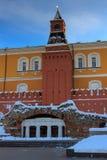 Paviljoen-ruïnes Grot dichtbij de Middenarsenaaltoren van Moskou het Kremlin Royalty-vrije Stock Foto