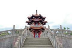 Paviljoen van Chinese architectuur bij 228 Vrede Memorial Park Stock Afbeelding