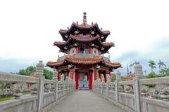 Paviljoen van Chinese architectuur bij 228 Vrede Memorial Park Royalty-vrije Stock Afbeeldingen