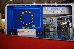 Paviljoen van Europese Unie op WCIF 2012 Royalty-vrije Stock Fotografie