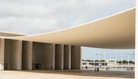 Paviljoen van Portugal in Lissabon. Ontwerp van preint stock afbeelding
