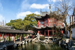 Paviljoen in Yu Yuan Gardens, Shanghai royalty-vrije stock fotografie