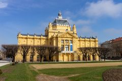 Paviljon d'Umjetnicki - pavillon d'art à Zagreb, Croatie photo libre de droits