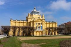 Paviljon de Umjetnicki - pavilhão da arte em Zagreb, Croácia foto de stock royalty free