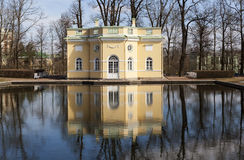 Paviljongövrebad Stad Pushkin (Tsarskoye Selo), St Petersburg Ryssland Royaltyfria Bilder