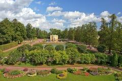 Paviljongövrebad, Tsarskoye Selo, St Petersburg Arkivfoto