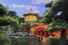 Paviljong av absolut perfektion i Nan Lian Garden, Hong Kong Royaltyfri Fotografi