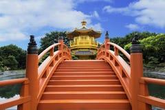 Paviljong av absolut perfektion i Nan Lian Garden, Hong Kong Fotografering för Bildbyråer