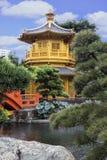 Paviljong av absolut perfektion i Nan Lian Garden, Hong Kong Arkivbild