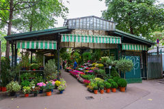 Paviljong av blommamarknaden i Paris, Frankrike Arkivbilder