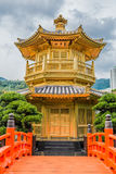 Paviljong av den absoluta perfektionchien Lin Nunnery Kowloon Hong Kon Royaltyfria Foton