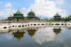 Paviljong av det upplyst Royaltyfri Bild
