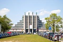 Paviljong av världsexpon 1958 Arkivfoto