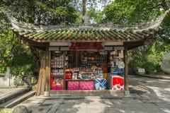 Paviljong för Chengdu wuhoutempel Royaltyfri Fotografi