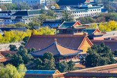 paviljong för guld för beijing blå porslin stad förbjuden Arkivbilder
