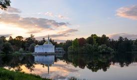 Paviljong för turkiskt bad på det stora dammet, Catherine Park pushkin Tsarskoe Selo Arkivfoto