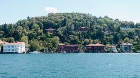 Paviljong i bosphorusen, istanbul, kalkon royaltyfri foto